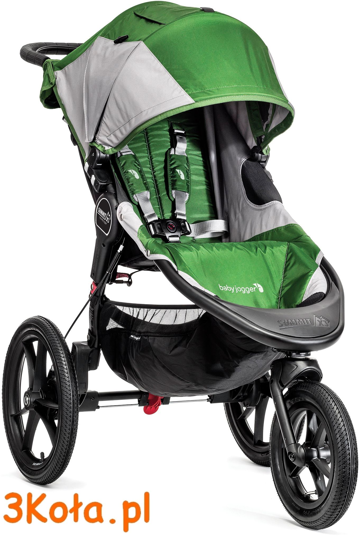 Baby Jogger Summit X3, kolor siedziska Green