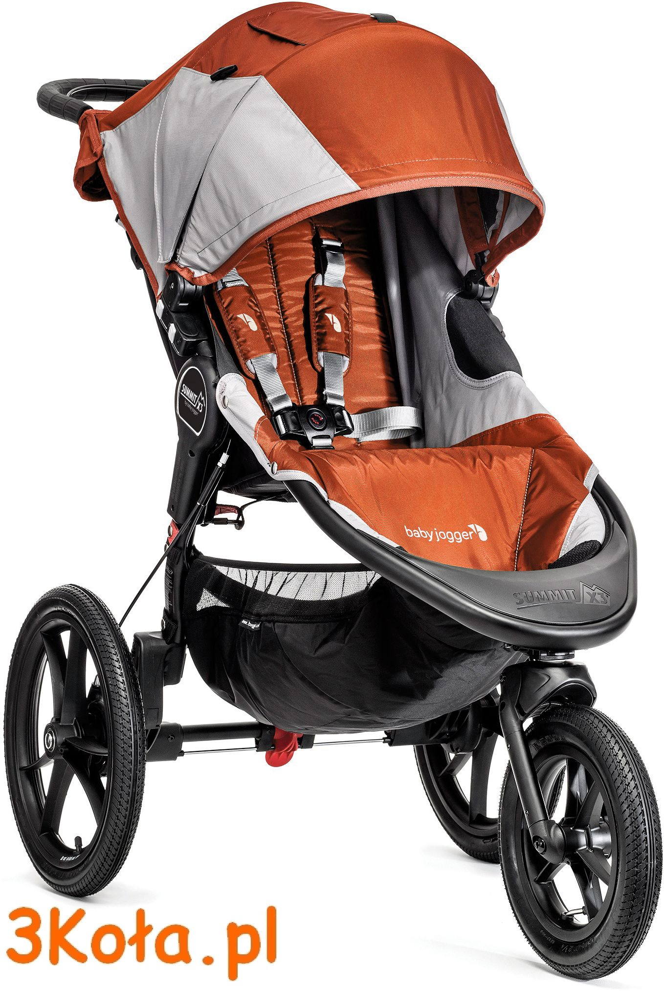Baby Jogger Summit X3, kolor siedziska Orange